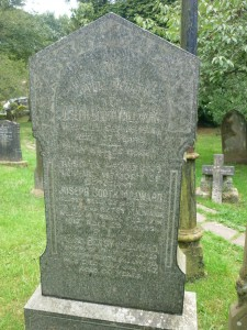 Sgt Joseph Booth Milward remembered on his parents grave at St Peters Church