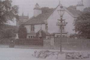 St Peters Vicarage c1915 with church tower in the background.
