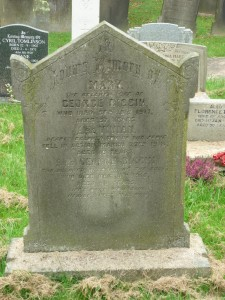Vivian Biggin remembered on his parents grave at St Peters