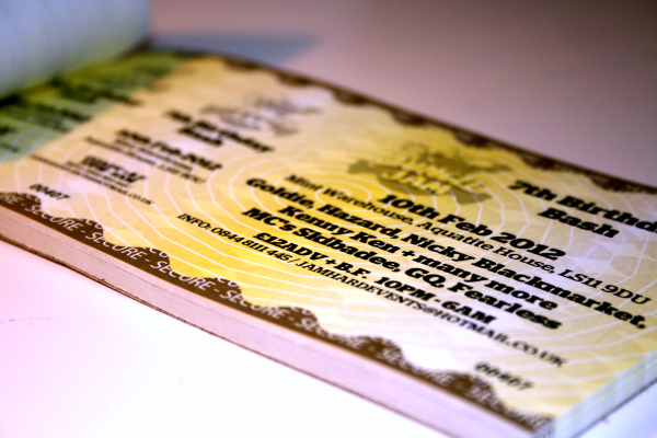 Event Tickets Printing in AU, UK - TheStickerPrinting