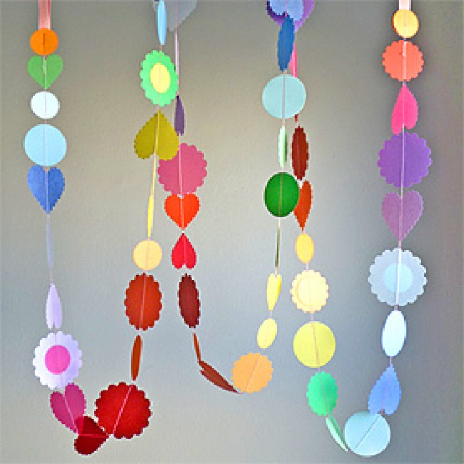 how to sew a paper garland for parties