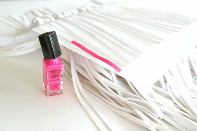 DIY Nail Polish Painted Handbag