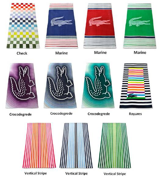 Lacoste Home and Boss Home Beach Towels