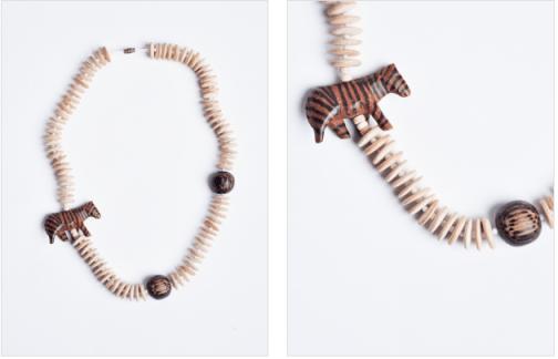 Refinery29.com, Wooden Zebra Necklace, $39