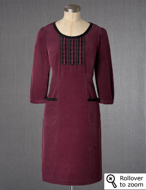 Boden, Casual Cord Dress, $128