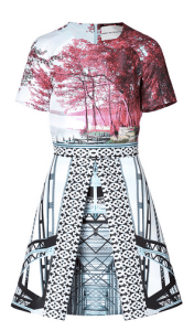Mary Katrantzou, Harbour Bridges Printed Dress in Multi, $2,730
