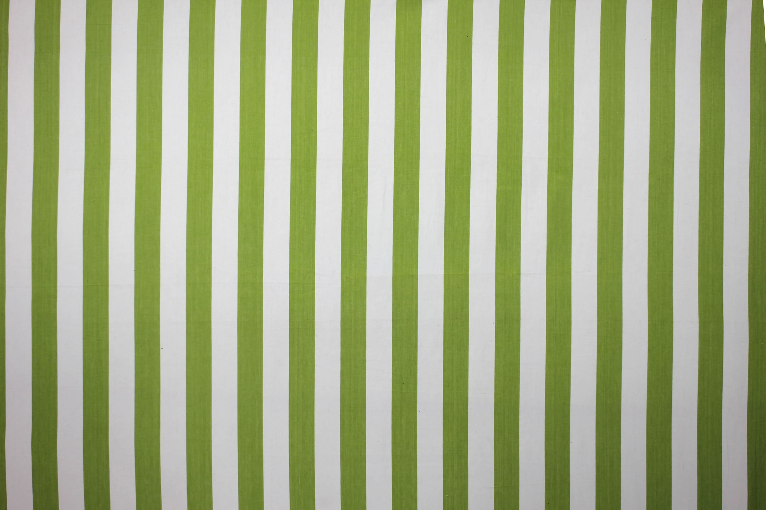 Lime Green and White Stripe Oilcloth Fabric The Stripes Company