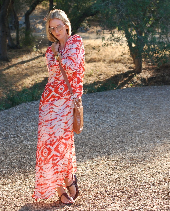 Tanya Scheer Orange Tie Dye Dress