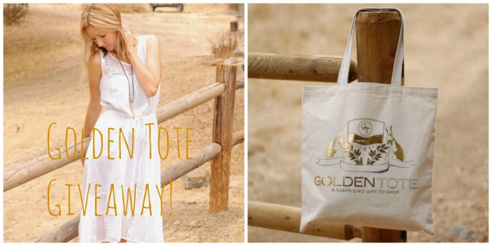 Golden Tote Giveaway