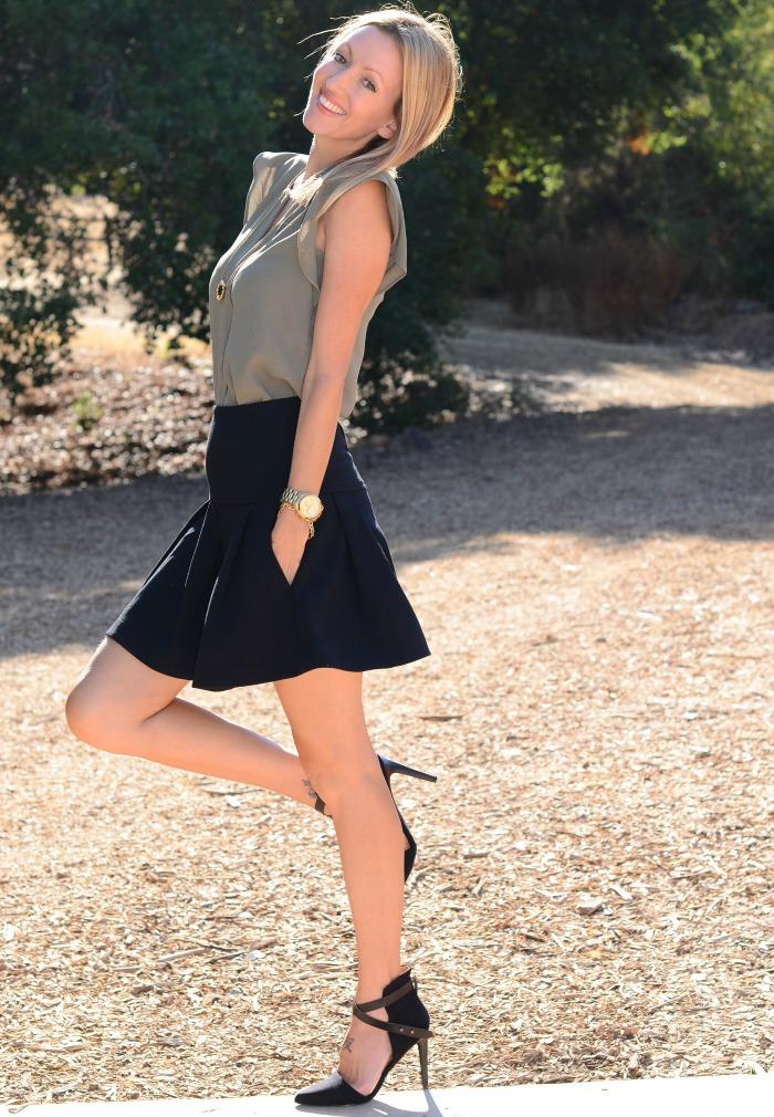 anthropologie flounce skirt