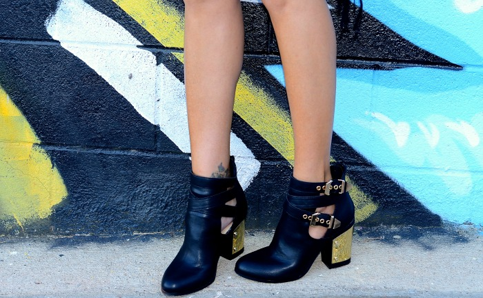 Justfab Gold Detail Booties