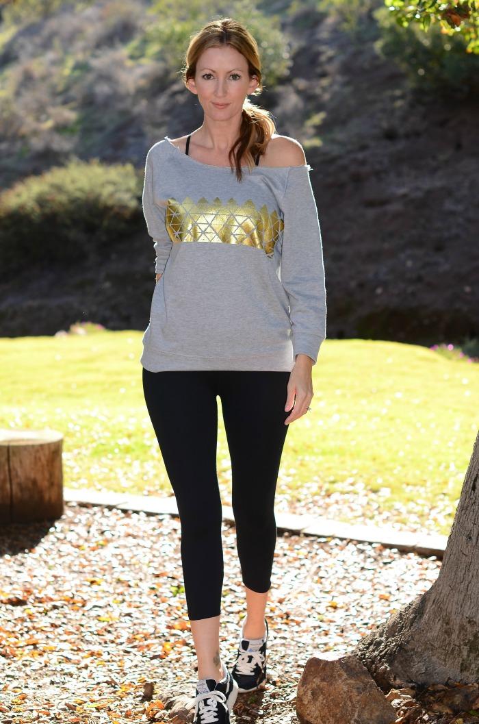 Fabletics Gold Triangle Sweatshirt