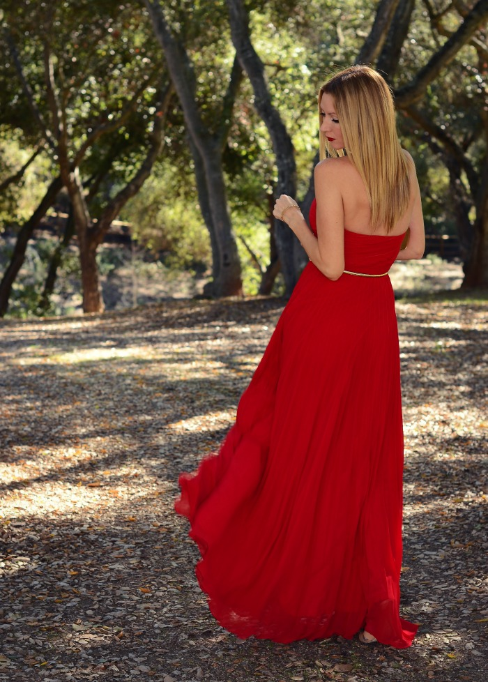 Lulu's Red Strapless Maxi