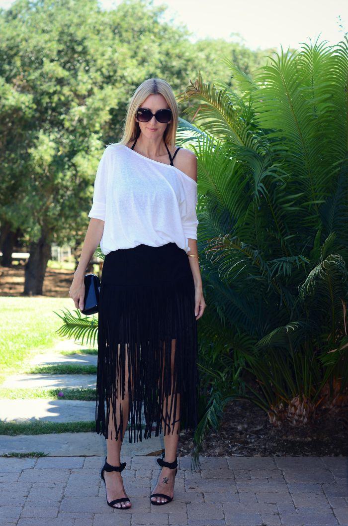 Justfab Fringe Skirt