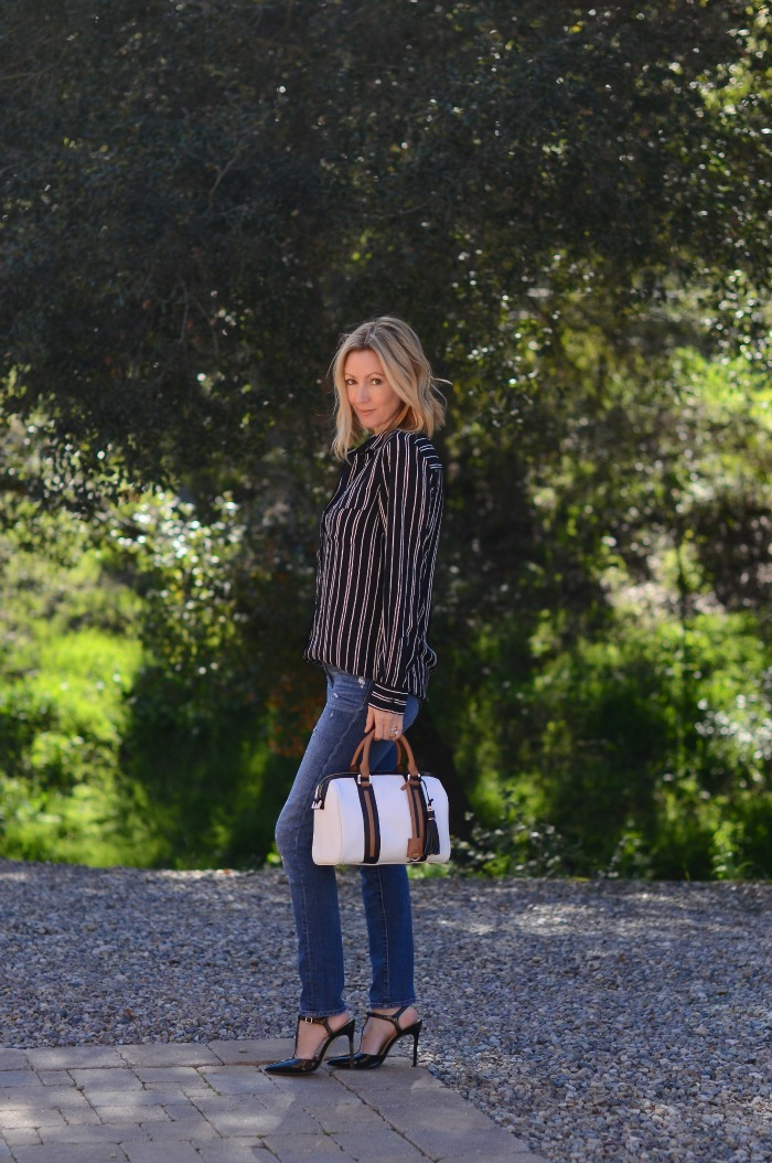 Who What Wear Striped Blouse