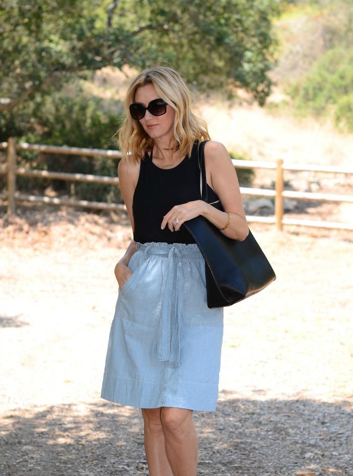 Madwell Chambray Skirt