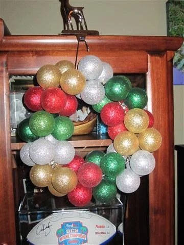 DIY Ornament Wreath
