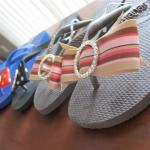 How to Decorate Flip Flops with Ribbon