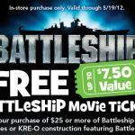 Free Battleship Movie Ticket