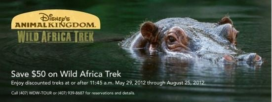 Disney's Animal Kingdom Wild Africa Trek Discount