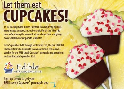 Edible Arrangements Free Cupcake Pop