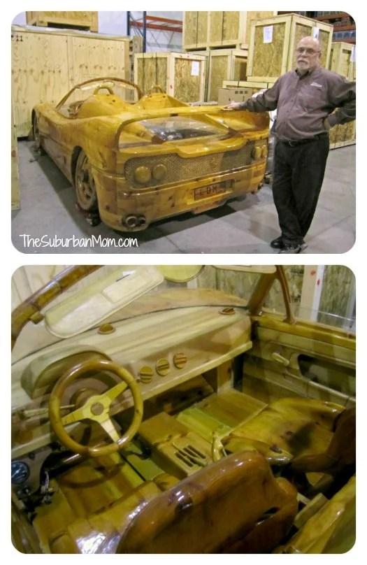 Ripley's Believe it or Not Wood Carved Ferrari