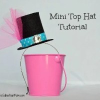 How To Make A Mad Hatter Mini Top Hat ~ Tutorial