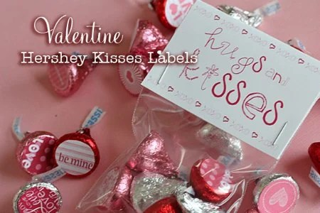 Valentine's Day Free Printable Hershey Kisses Labels