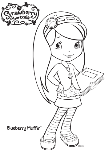 12 Strawberry Shortcake Birthday Party Printable Coloring Blueberry Muffin Coloring Pages