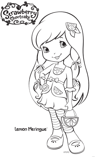 Strawberry Shortcake Lemon Meringue Coloring Page