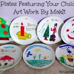 Gift Idea: Plates Featuring Your Child's Art Work By MakIt