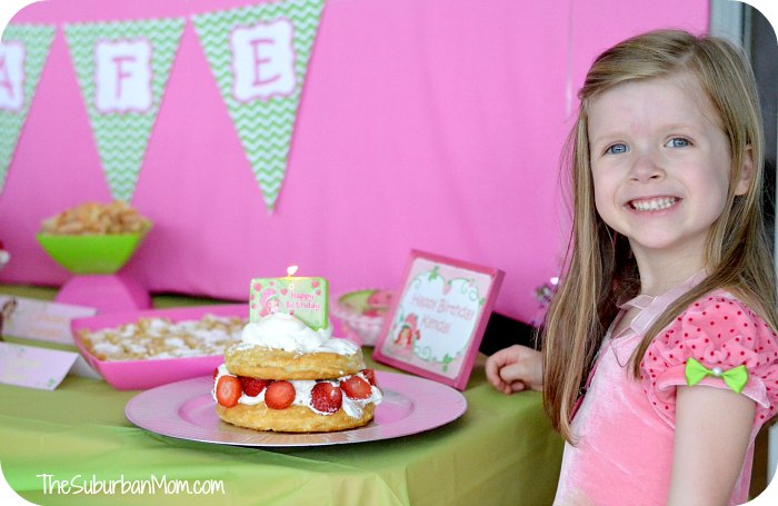Strawberry Shortcake Birthday Party Cake