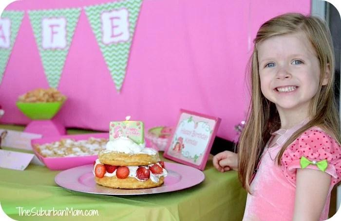 Strawberry Shortcake Birthday Party Cake