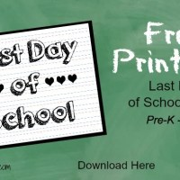 Last Day Of School Sign ~ Free Printable