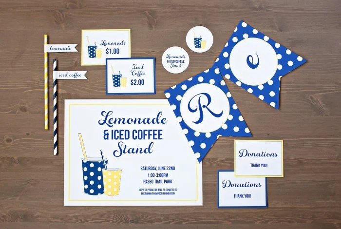 TomKat Studio Free Printable Lemonade Stand