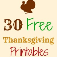 30 Free Thanksgiving Printables