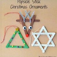 3 Popsicle Stick Christmas Ornaments - Kids Craft