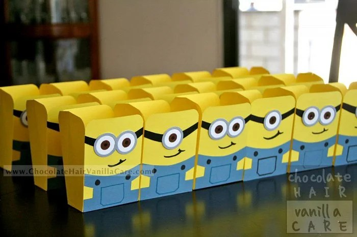 Minion Popcorn Box Craft