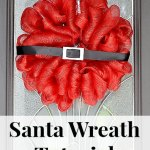 Deco Mesh Santa Wreath Christmas Tutorial