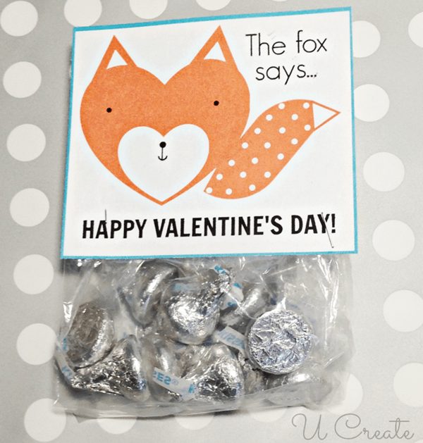 Fox Valentine Printable