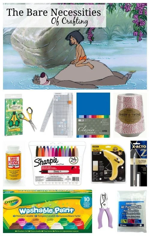 Bare Necessities of Crafting Jungle Book