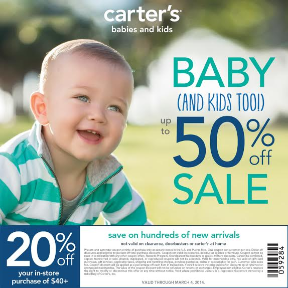 Carters 20 off Coupon