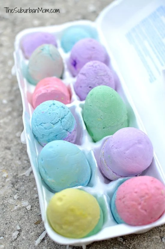 DIY Chalk Easter Eggs