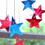4th of July Star Sun Catchers: Kids Craft