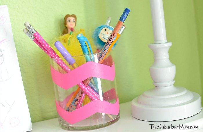 Chevron Painted Pencil Holder Craft