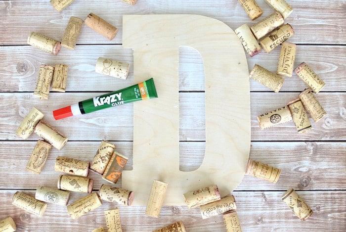 Cork Monogram Krazy Glue