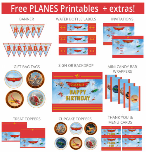 Free Disney Planes Birthday Party Printables