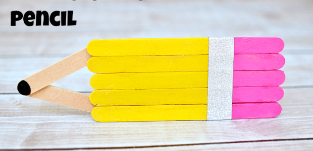 Popsicle Stick Pencil Back to School Craft