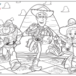 Buzz Woody Jessie Coloring Page