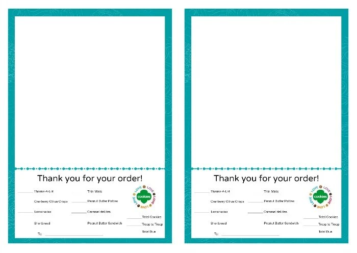 Girl Scout Cookies Thank You Notes Free Printable - free thank you notes templates